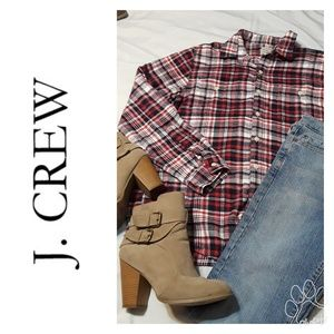 Vintage J. Crew Flannel plaid Shirt..